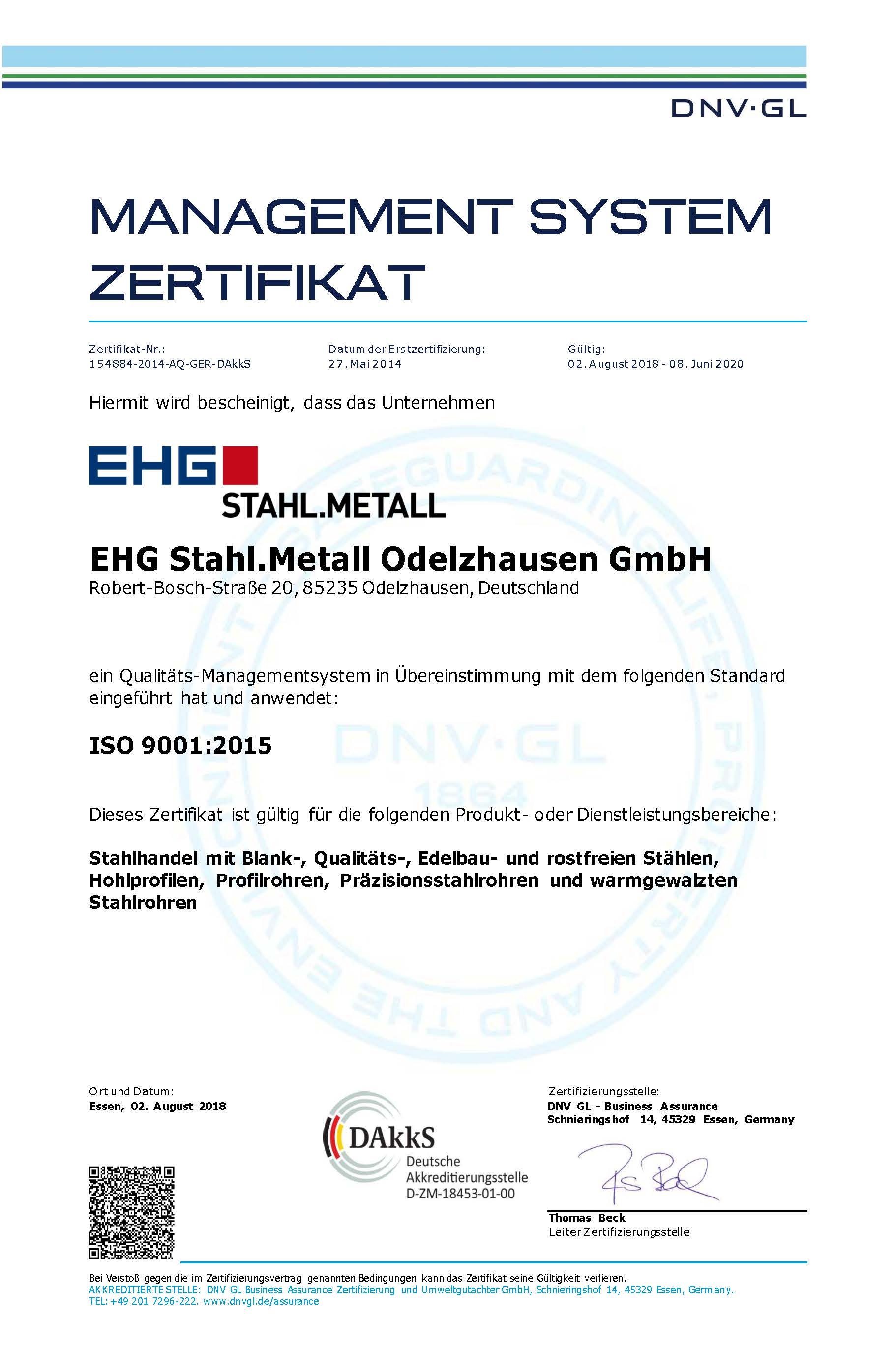 Certification ehg steel and metal certificate 1betcityfo Image collections